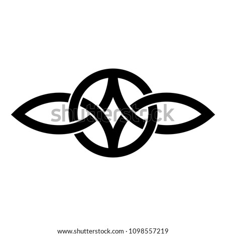 Everlasting Love Symbol Celtic Knot Stockvector 1098557219