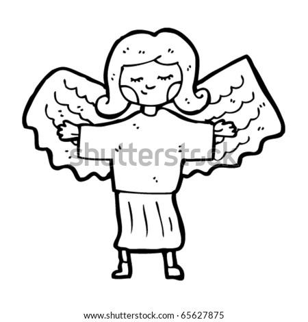 everyday angel cartoon - stock vector