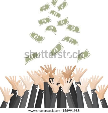 Everyone needs money - stock vector