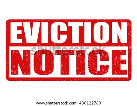 Eviction Notice Grunge Rubber Stamp On White Background, Vector Illustration