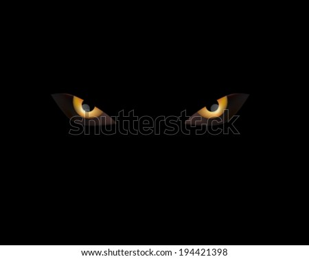 evil eye on black - stock vector