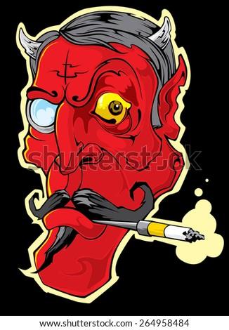 evil illustration - stock vector