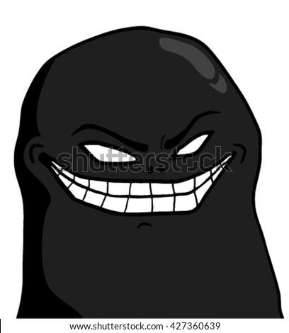 evil joke face stock vector royalty free 427360639 shutterstock
