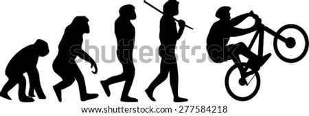 Evolution of the cyclist - stock vector