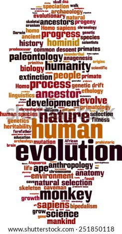 Evolution word cloud concept. Vector illustration