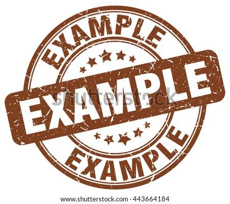 example brown grunge round vintage rubber stamp.example stamp.example round stamp.example grunge stamp.example.example vintage stamp. - stock vector