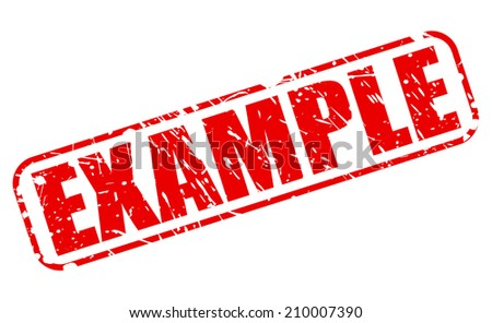 Example red stamp text on white - stock vector