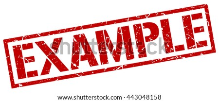 example stamp.stamp.sign.example. - stock vector