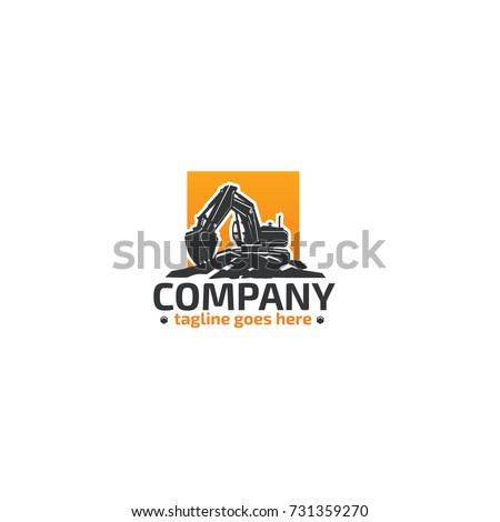 excavator heavy equipment logo stock vector 731359270 shutterstock rh shutterstock com equipment log sheets equipment log book