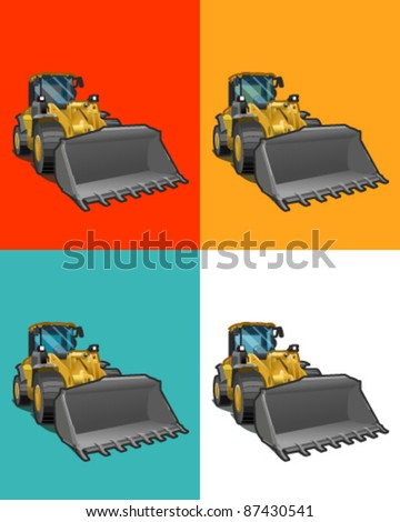 Excavator isolated - stock vector