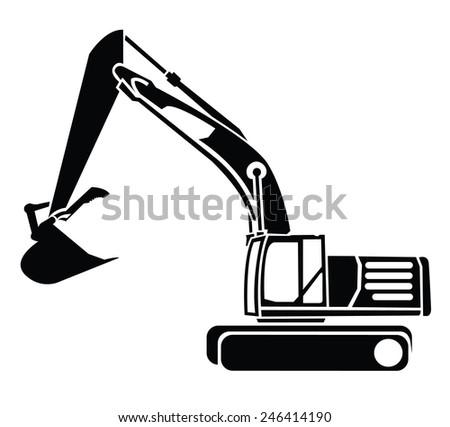 Excavator Symbol - stock vector