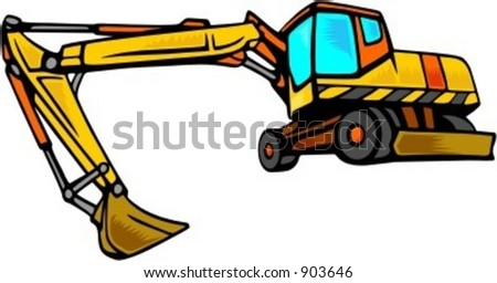 Excavator.Vector illustration