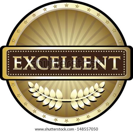 Excellence Gold Award  - stock vector
