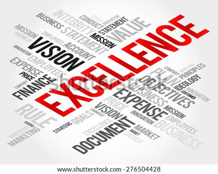 EXCELLENCE word cloud, business concept - stock vector
