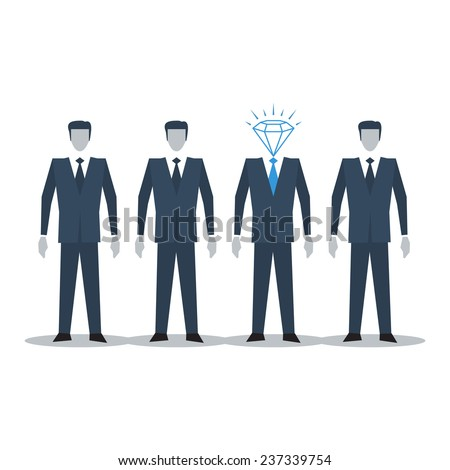 Excellent candidate - stock vector