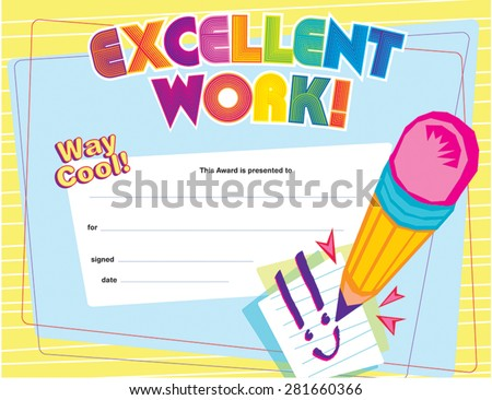 certificate of excellent
