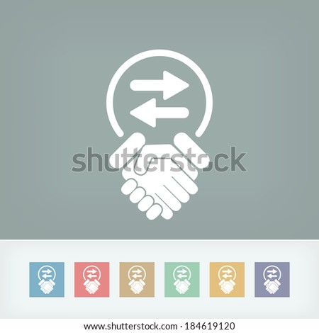 Exchange agreement icon - stock vector