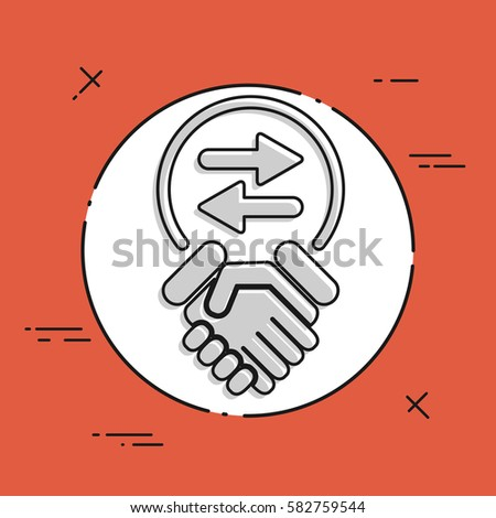 Exchange Agreement Icon Stock Vector   Shutterstock