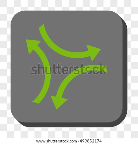 Exchange Arrows square button. Vector pictogram style is a flat symbol in a rounded square button, light green and gray colors, chess transparent background.
