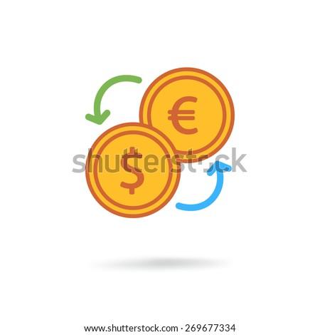 Exchange icon - stock vector