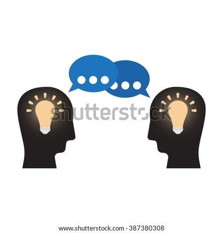 exchange idea - stock vector