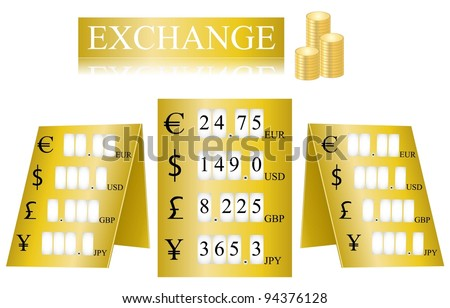 Exchange rate display tables