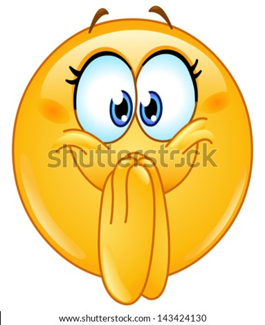 Excited emoticon - stock vector