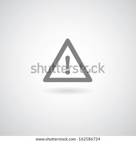 Exclamation danger sign on gray background  - stock vector