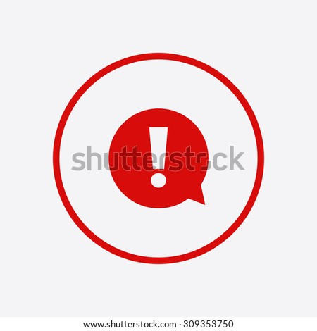 Exclamation mark. Hazard warning symbol. Flat design style. Vector EPS 10. - stock vector