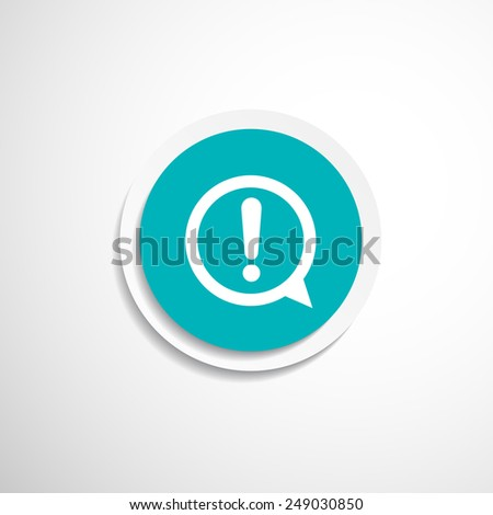 Exclamation mark icon button glossy circle  sign web symbol - stock vector