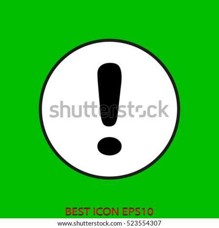 exclamation mark, vector icon, eps10