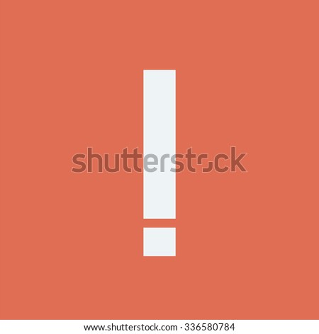 Exclamation point icon. Danger icon. Attention icon. - stock vector