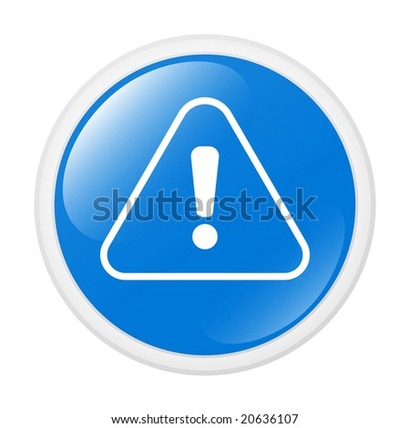 Exclamation sign. Button. Icon - stock vector