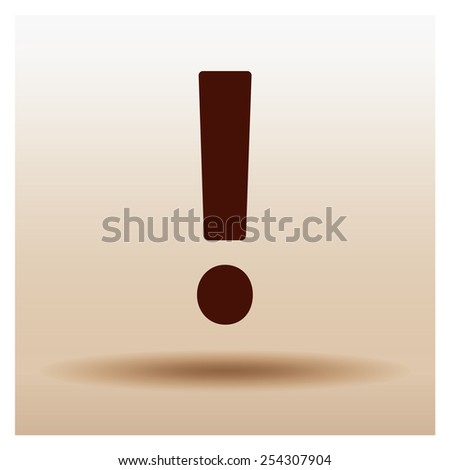 exclamation sign icon warning, vector illustration. Flat design style - stock vector