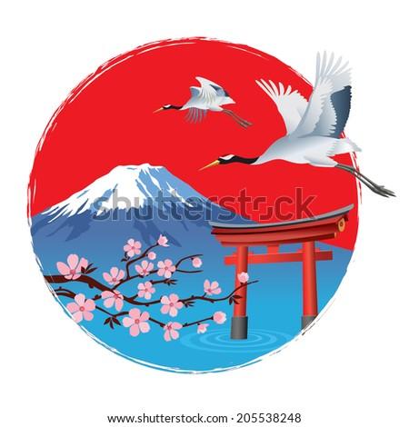 Exclusive Japan - stock vector