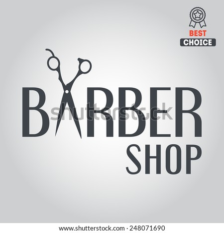 Exclusive logo, icon or logotype for barbershop - stock vector
