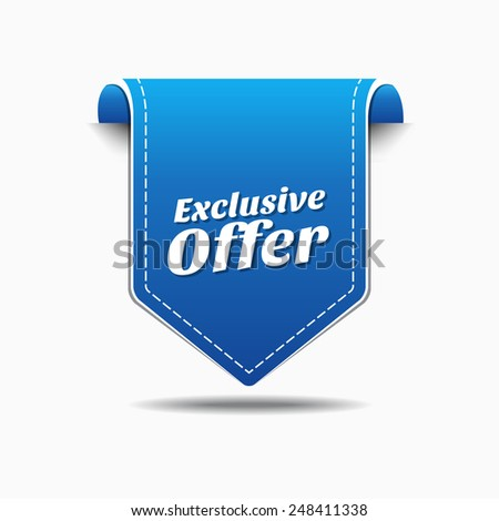 Exclusive Offer Blue Vector Icon Design