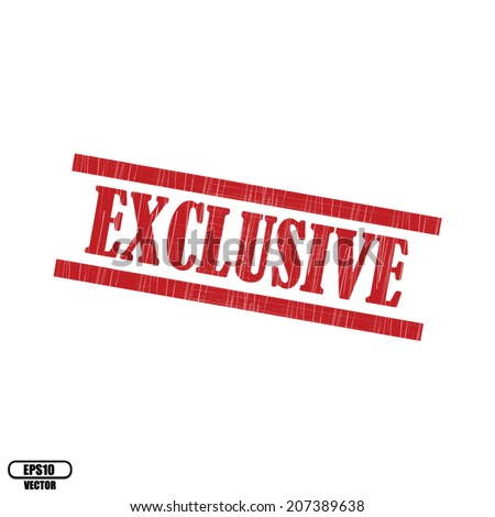 Exclusive red grunge stamp on white background, Eps.10 - vector illustration.  - stock vector