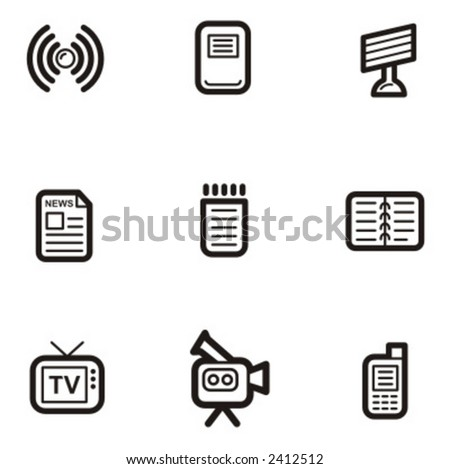 Exclusive Series of Abstract Icons. Check my portfolio for much more of this series as well as thousands of similar and other great vector items. - stock vector