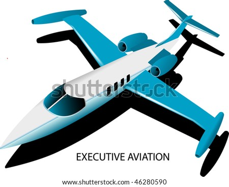 Executive Jet - stock vector