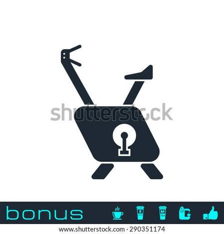 exercise bike icon - stock vector