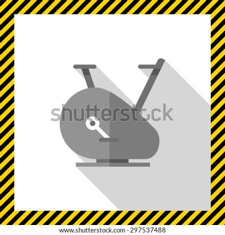 Exercise bike icon - stock vector