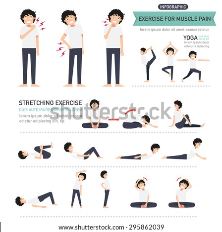 Exercise Muscle Pain Infographicvector Illustration Stock Vector ...