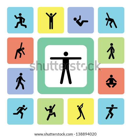 Exercise icons set for use - stock vector