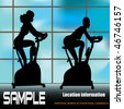 Exercise Window, Vector Flyer of a Health Club or Gymnasium - stock photo