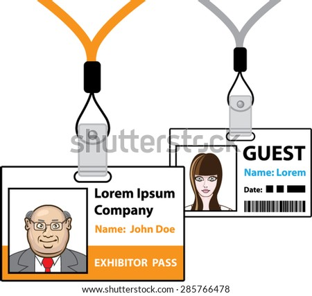 Exhibition pass - stock vector