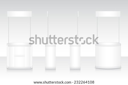 exhibition stand kiosk booth - stock vector