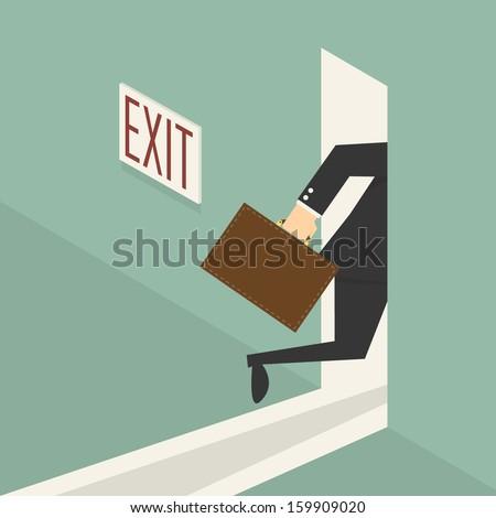 Exit - stock vector