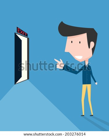Exit concept - stock vector
