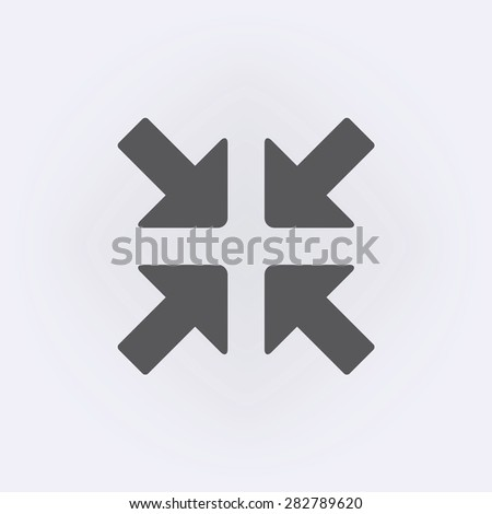 Full Screen Icon Vector Exit Full Screen Icon Stock